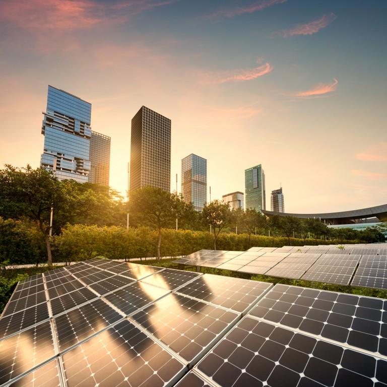 solar panels city at china